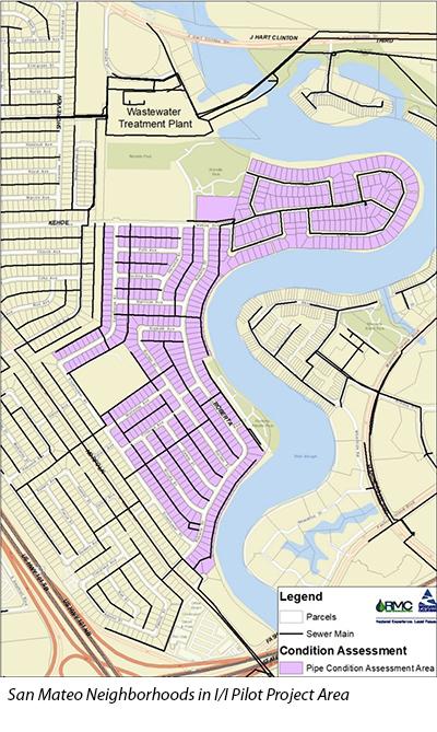 San Mateo Neighborhoods in I/I Pilot Project Area