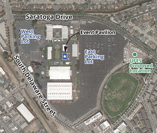 Map of San Mateo Event Center