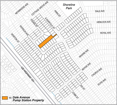 Map of Dale Avenue project location.