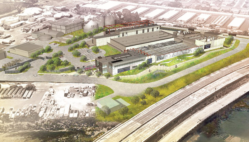 Rendering of new Waste Water Treatment Facility