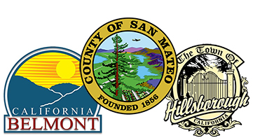 Belmont, County of San Mateo, and Town of Hillsborough Logos
