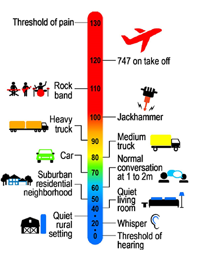 Comparison of Activity Noise to Decibel Level