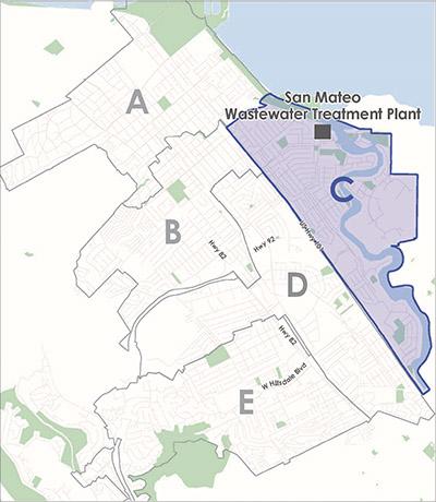Map of basin C.