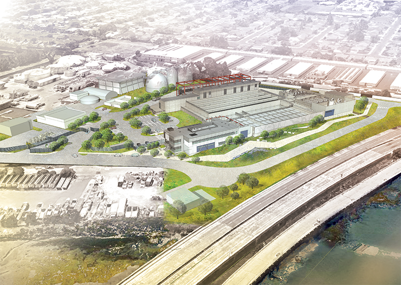 Architect's rendering of future wastewater treatment plant. Courtesy of the City of San Mateo.