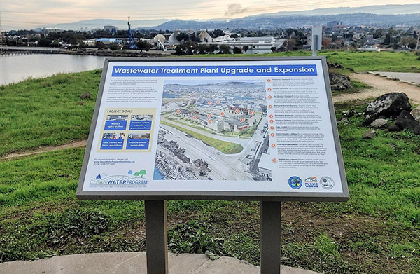 WWTP Site Sign