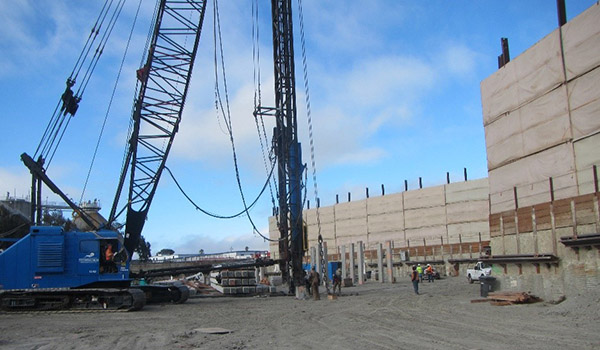 Photo of WWTP construction