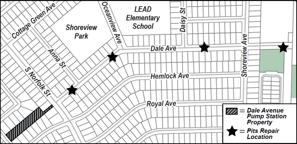 Map of Dale project area.