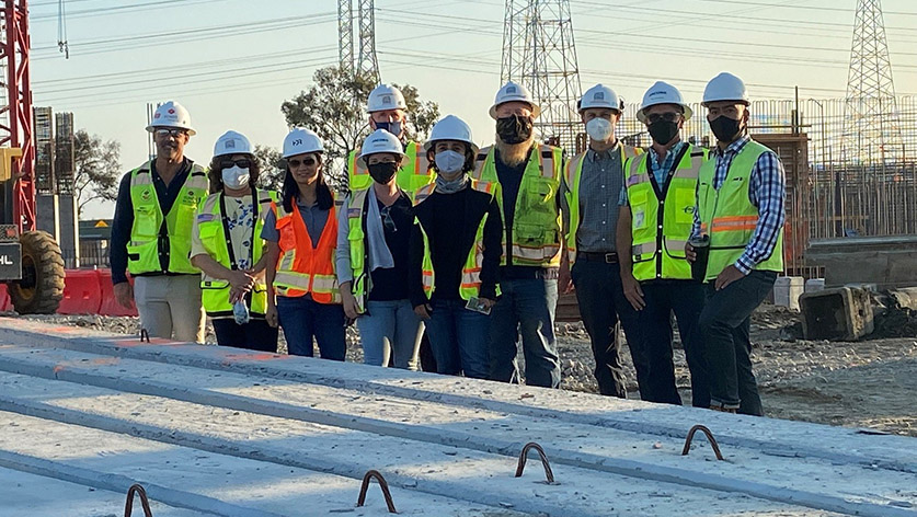 Photo of WWTP construction team